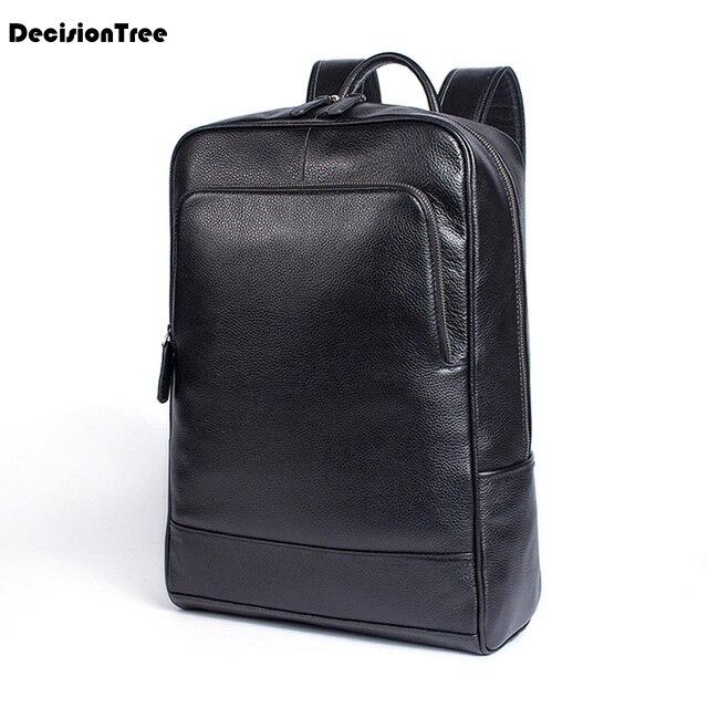 Nouveau homme sac à dos Designer hommes coréen rétro sac ordinateur portable sac à dos grande capacité Masculina mâle véritable vache cuir sac à dos LY53
