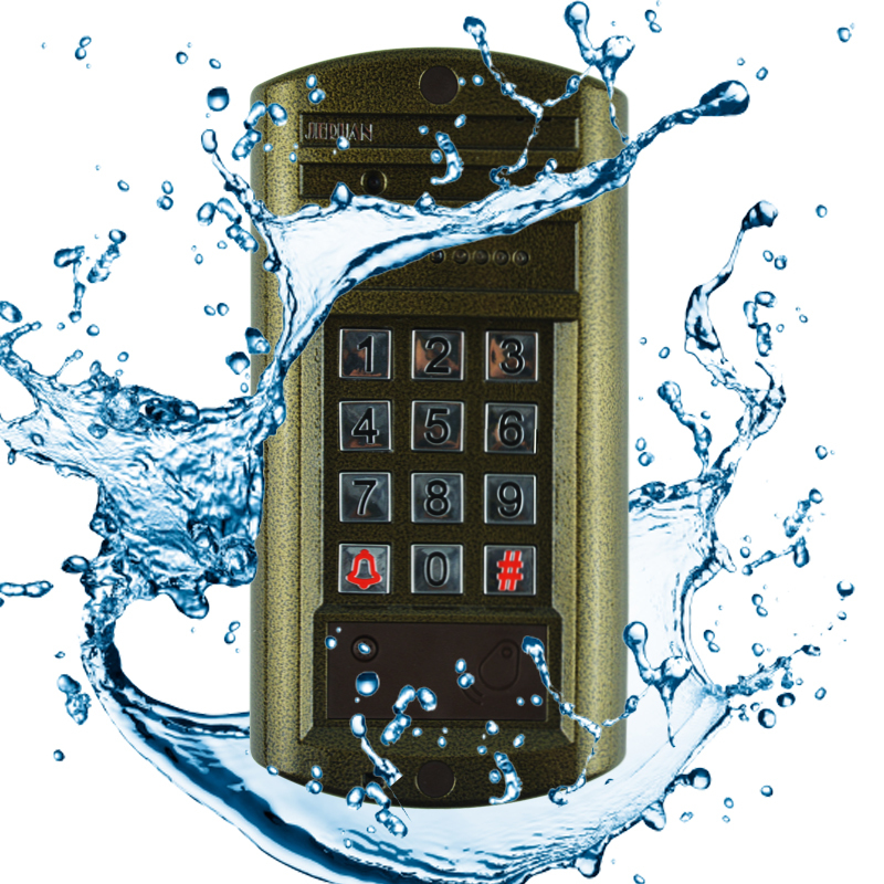 HOME 7 inch video door phone intercom system kit Metal waterproof password keypad HD Mini Camera + Electronic control lock