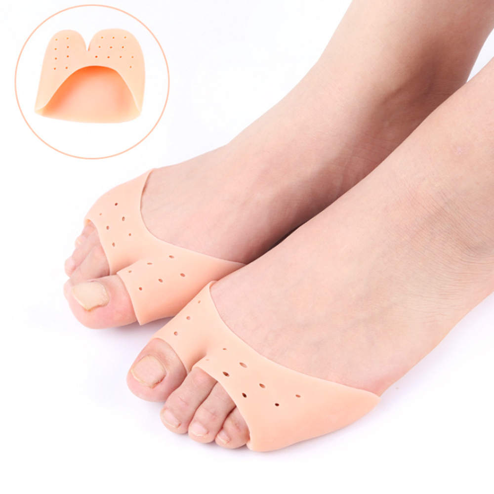 1Pair Toe Protector Toe Support Ballet Shoe Covers High Heels Pointed Toes Set Silicone Protective Toe Sleeve Orthopedic Z57101