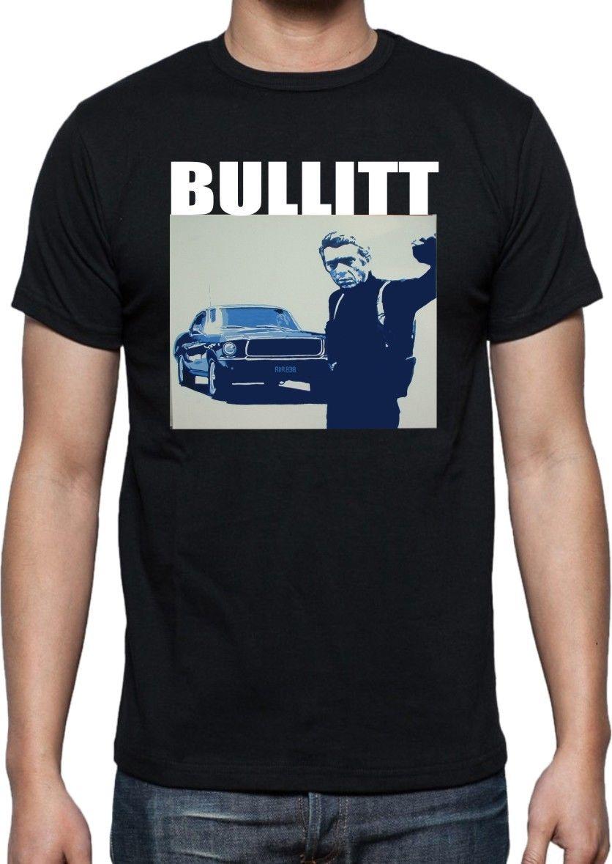 Fashion brand Steve Mcqueen Bullitt T Shirt-Classique Film Diverses Design Mens T Shirt O-Neck Short Sleeve Tees