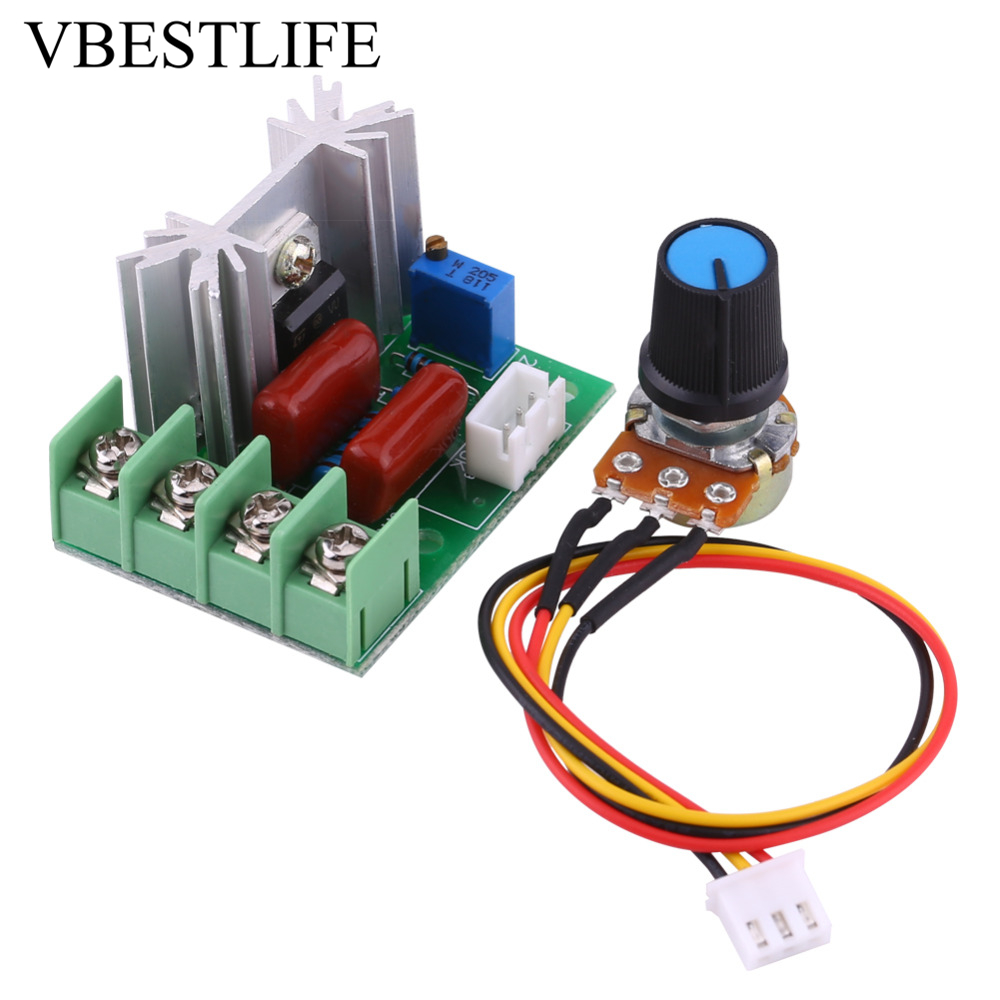 Us 264 36 Off 2000w Voltage Motor Speed Regulator 50 220v Ac Scr Electric Dimmers Controller Two Way Controlled In Herrold Triac Controllers From Home Improvement On