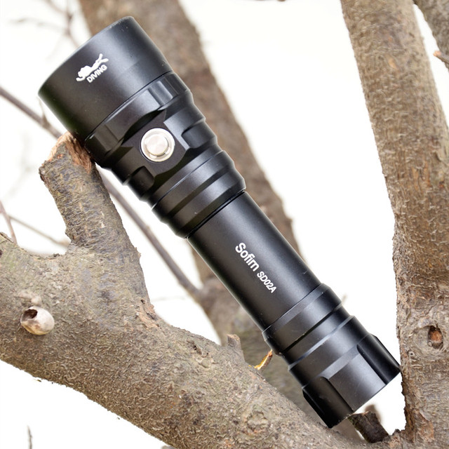 Sofirn SD02A Professional Scuba Diving Flashlight 18650 Powerful Dive Light Cree XPL 3000K LED Lamp Underwater Searchlight Torch