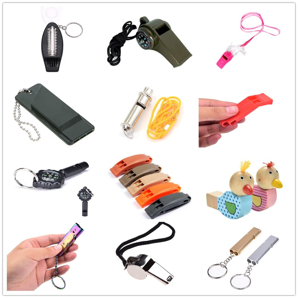 1PCS 14 Styles Multifunctional Emergency Survival Whistle Keychain For Camping Hiking Outdoor Sport Tools Training Whistle