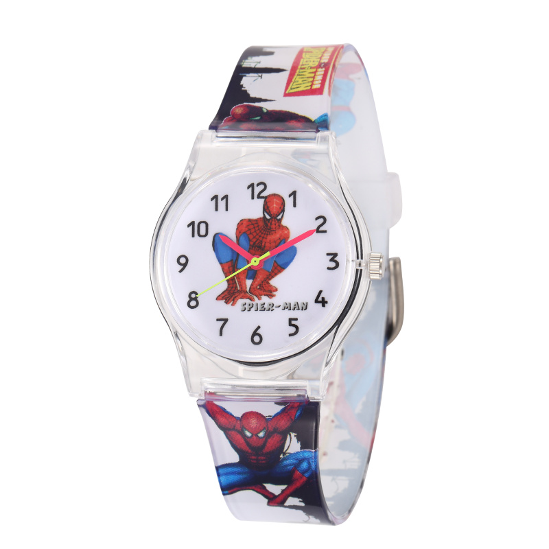 Hot Sale Fashion Spiderman Wrist Watch Children Watch Cute Cartoon Watch Kids Rubber Quartz Watch Kid Hour Gift Montre Enfant
