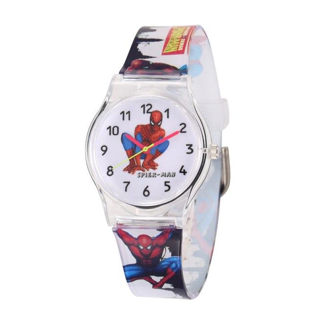 Hot Sale Fashion Spiderman Wrist Watch Children Watch Cute Cartoon Watch Kids Ru