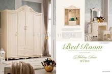 8012 дома мебель для спальни деревянная четыре двери шкаф chifforobe
