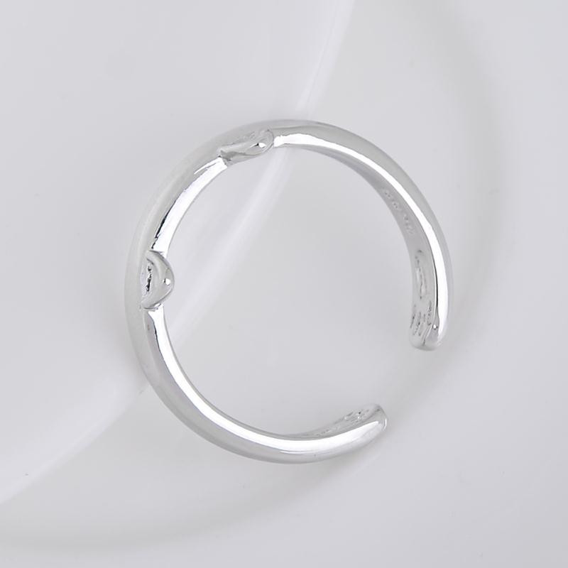 Silver Color Cat Ear Ring 8