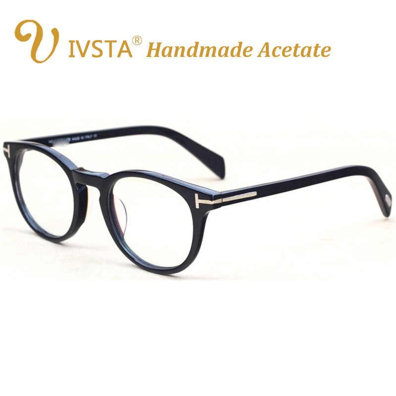 8253ff293fc97 ... IVSTA TF 5147 5146 5040 5407 6123 with logo Real Handmade Acetate  Spectacle Frame Glasses Men