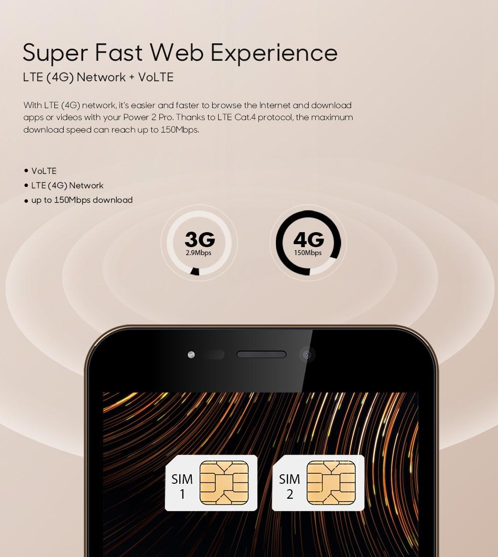 LEAGOO POWER 2 PRO 4000mAh Face ID Fingerprint Smartphone 2GB+16GB Dual Camera Android 8.1 Quad Core 5.2' HD 4G Mobile Phone (10)