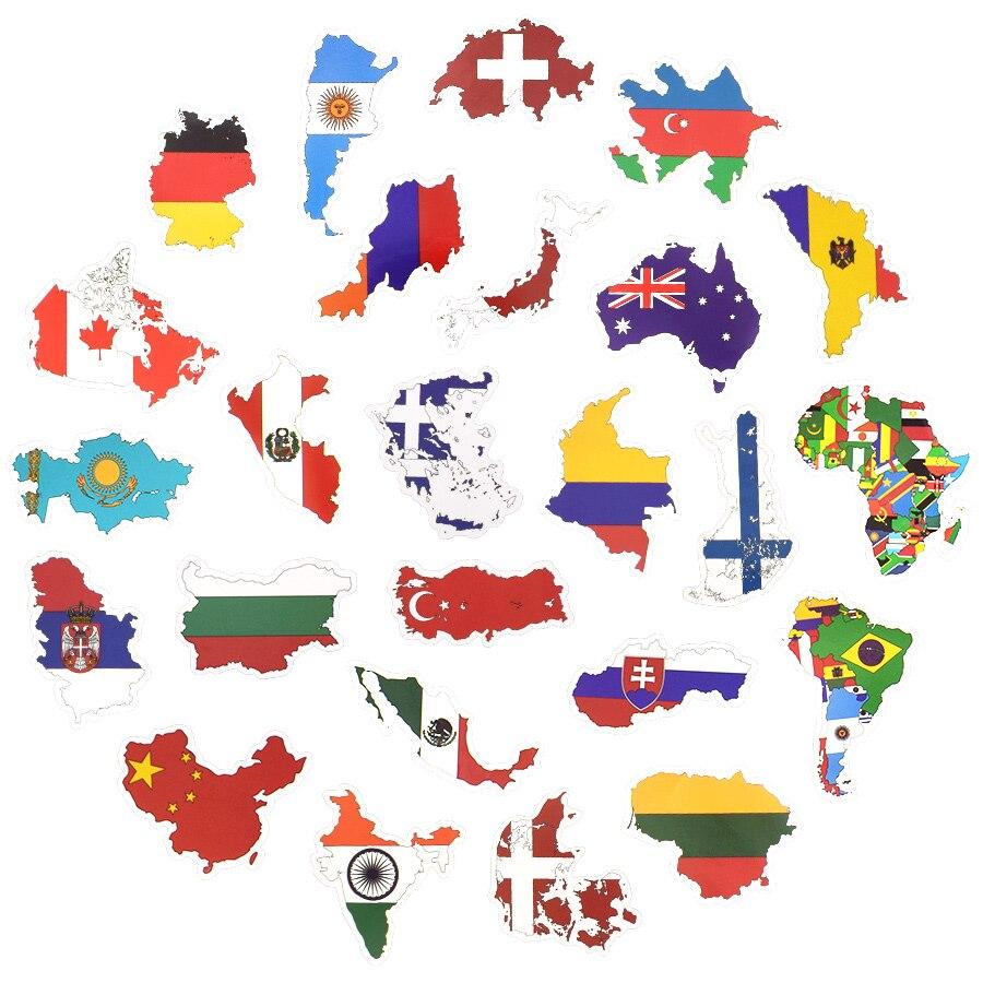 Großhandel 50 Länder Nationalflagge Aufkleber Für Fußballfans