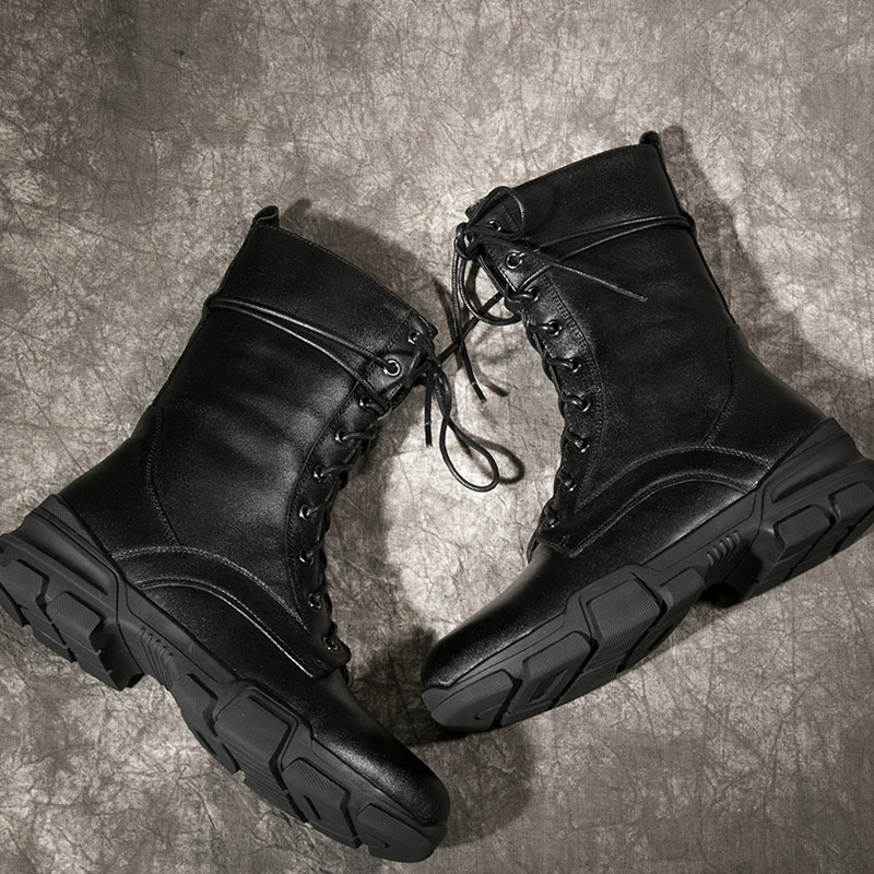 Botas Motocicleta black Redonda Tobillo Pie Casual Femenino black Plush Dedo Plush Atado Zapatos Plataforma Short Invierno Cuero Wetkiss Mujeres Militar Del Negro black Calzado Cruzado De gqIC5twqx