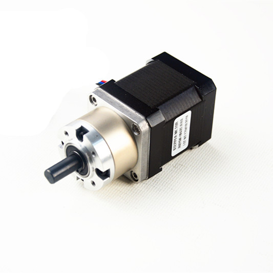 Geared nema 17 stepper motor ratio 5 1 planetary gearbox for Nema design b motor