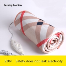 Burning Fashion 220V safety plush electric blanket bed