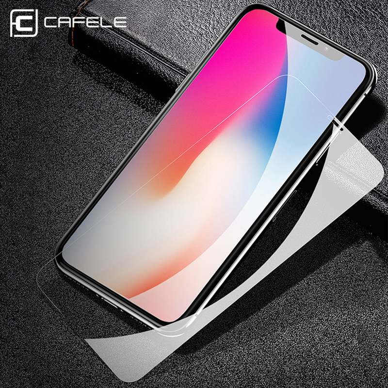Cafele Tempered Glass for iPhone X XR XS Max 8 7 6 6s HD Clear Screen Protector For iPhone Xr X xs max Protective Glass Film in Phone Screen Protectors from Cellphones Telecommunications