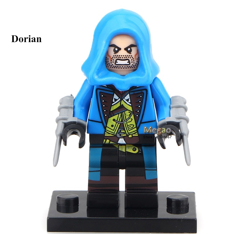 50pcs/lot Pg949 Dorian Firenze Custom Creed Hunter Class Building Block Best Children Toy Finely Processed Blocks