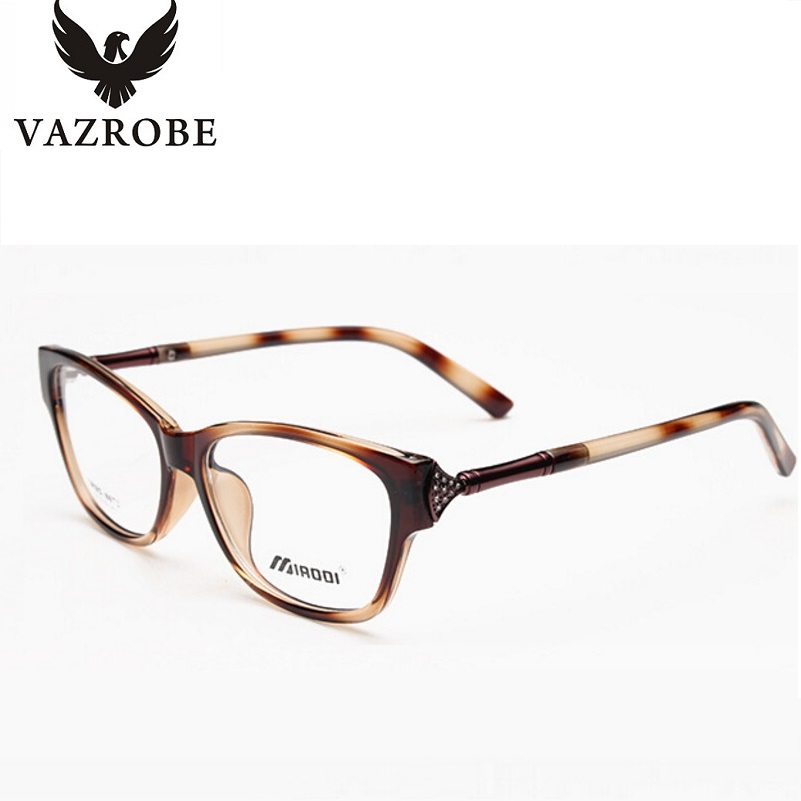 vazrobe fashion clear glasses frame womens prescription eyeglass frames eyewear with optical lenses custom make