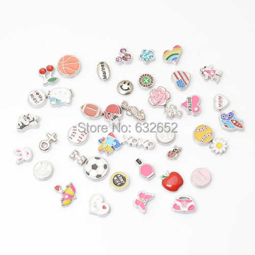 Free shipping 100pcs/lot MIX designs floating charms, floating charm mix for Floating lockets FC-MIX