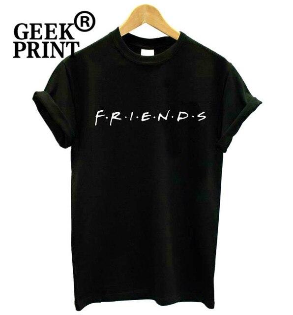 ee03f134 Women FRIENDS Logo Print tshirt Humour t shirt Lady Girl Novelty Top Tee  Gifts Dropshipping