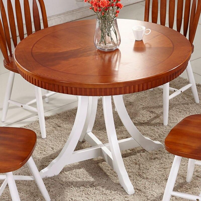 Madera mesa de comedor redonda escandinavo moderno minimalista ...