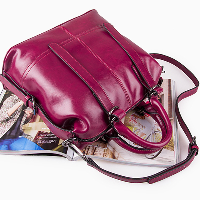 À Femmes tout 2017 Qualité Mode purple brown Main Sacs Sac Nouvelle poignée Réel Femme Top Fourre Vache Véritable En Black Bandoulière Cuir De Femelle Haute rqwtrfU