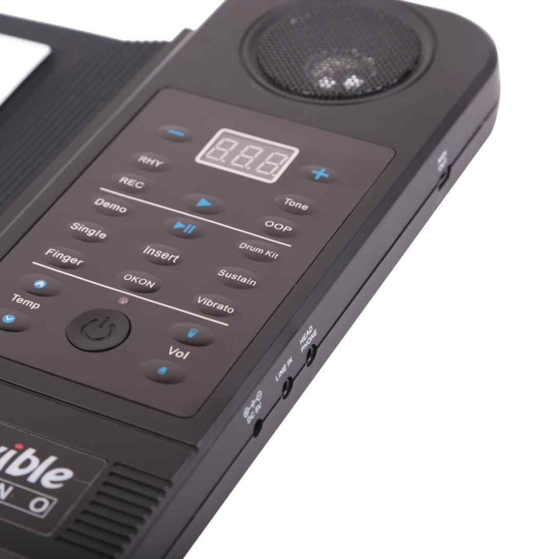 KONIX PU61S Гибкий Цифровой светодиодный дисплей, 61 клавиша, 128 тонов, 128 ритмов, детские игрушки, электронные рулонные пианино, встроенный динамик