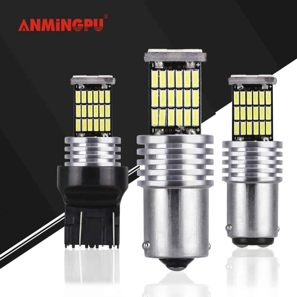 ANMINGPU 2x Signal Lamp BA15S BAU15S Led 1156 P21W Led Bulb 1157 P21/5W 7443 7440 T25 T20 Led Turn Signal Reverse Brake Lights