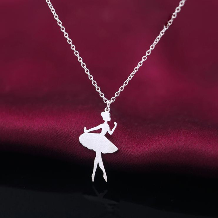 S925 sterling silver necklace cute little girl pendant necklace accessories DN02