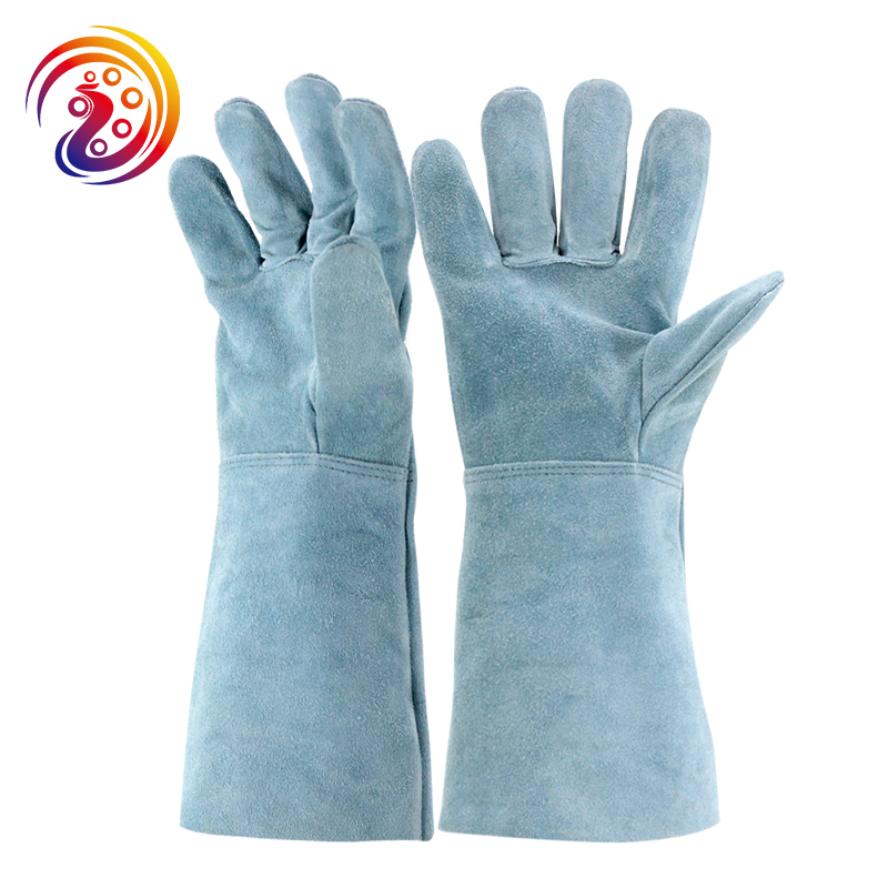 цена на OLSON DEEPAK Cow Split Leather Barbecue Welders Gloves Carrying Factory Gardening Protective Work Glove HY033