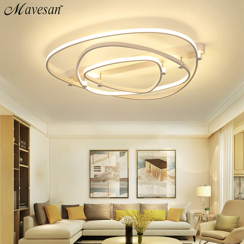 New LED Ceiling Lights For Living Room luminaria abajur Indoor Lights Fixture Ceiling Lamp For Home Decorative Lampshade цена