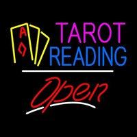 Tarot Skript Geöffnet Neon Sign Bier Bar Pub Neonröhre zimmer Erholung Leuchtreklamen Real Glasrohr Handwerk Beste Geschenk 31x24