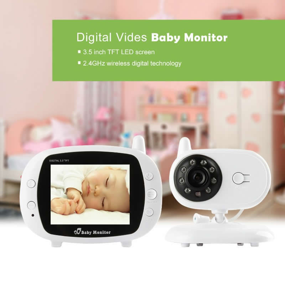 3.5 inch Wireless Baby Monitor alarm Security Camera indoor use Video Intercom system rechargeable battery inside Burglar 3.5 inch Wireless Baby Monitor alarm Security Camera indoor use Video Intercom system rechargeable battery inside Burglar