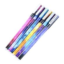 6 шт./партия цветная гелевая ручка для офиса, школьные канцелярские принадлежности, звездный узор