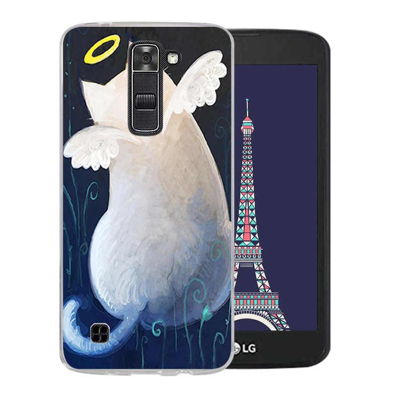 ซิลิโคนหรูหรา Luck แมวรูปแบบสำหรับ LG K7/Tribute 5 LS675/X210 X210DS โทรศัพท์กรณีนุ่มซิลิโคนสำหรับ LG K7 K 7 Coque