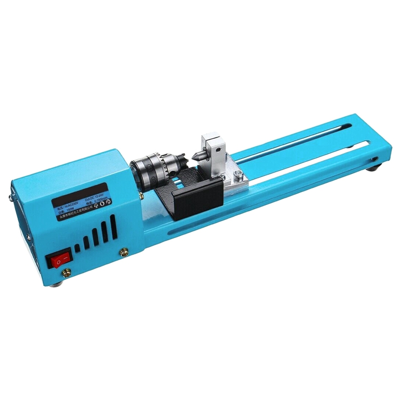 Mini Diy 150W Wood Lathe Bead Cutting Machine Drill Polishing Woodworking Milling Tool