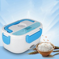 12V Mini Electric Car Heat Insulation Thermo Lunch Box Charging Hot Rice Cooker Multi Functional Plug Plastic Box Seal Cutlery