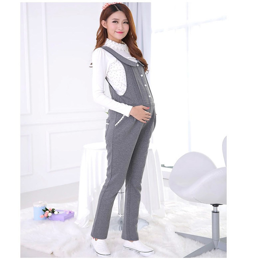 c2aa76158ca4b HAPPY ISLAND Spring Autumn Elegant Maternity Overalls Belly Pants Waist  Adjustable Suspender Trousers For Pregnant Women