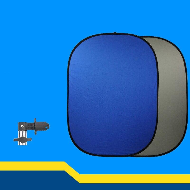 Tableau bleu gris gris/bleu 150*200 cm plaque de fond double face pliante CD50