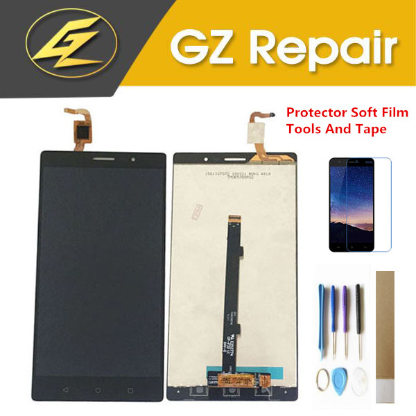Black Gold Color For Lenovo PHAB 2 PB2 650N PB2 650M PB2 650Y LCD Display With Touch Screen Glass Digitizer Assembly With Kits