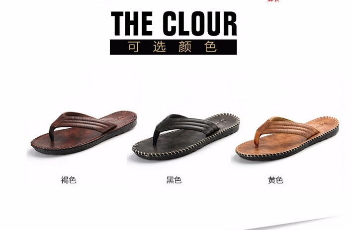 1d21f4605d80d Nice Men Leather Sandals Summer Sandals And Slippers Non Slip ...