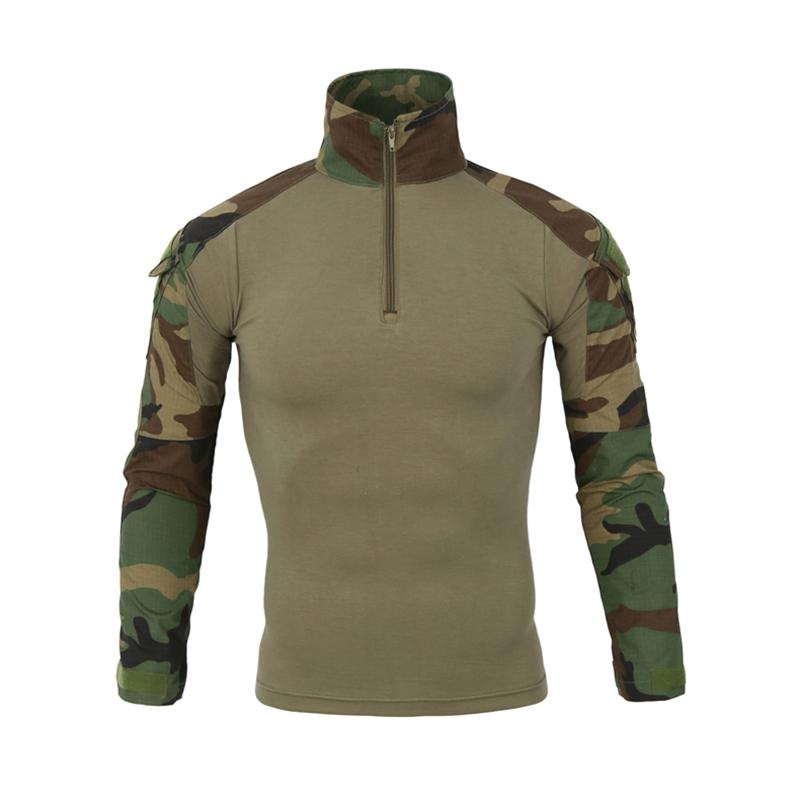 Men Long Sleeve Army T-Shirts Outdoor Hiking Military Soldiers Combat Tactical Men Gear Camouflage Force Shirt Shooting Hunting