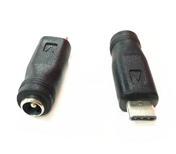 FEMALE 5.5*2.1mm 5.5mm x 2.1mm To Type C MALE DC JACK Connector Free shipping