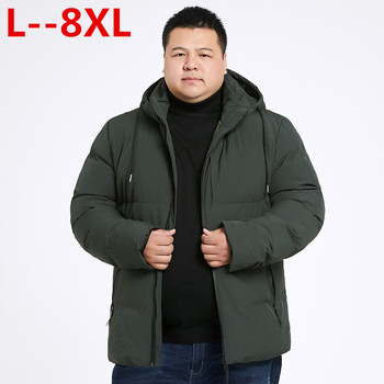10XL 8XL 6XL Winter Jacket Men Hooded Male Parka Male Solid Thick Outwear Cotton-padded Jackets Coats Hombre Casual Warm Parkas