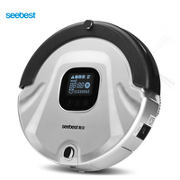 Robotic Vacuum Cleaner LCD Screen HEPA Filter Auto Clean And Recharge Cleaning Robot Seebest C565 Russia