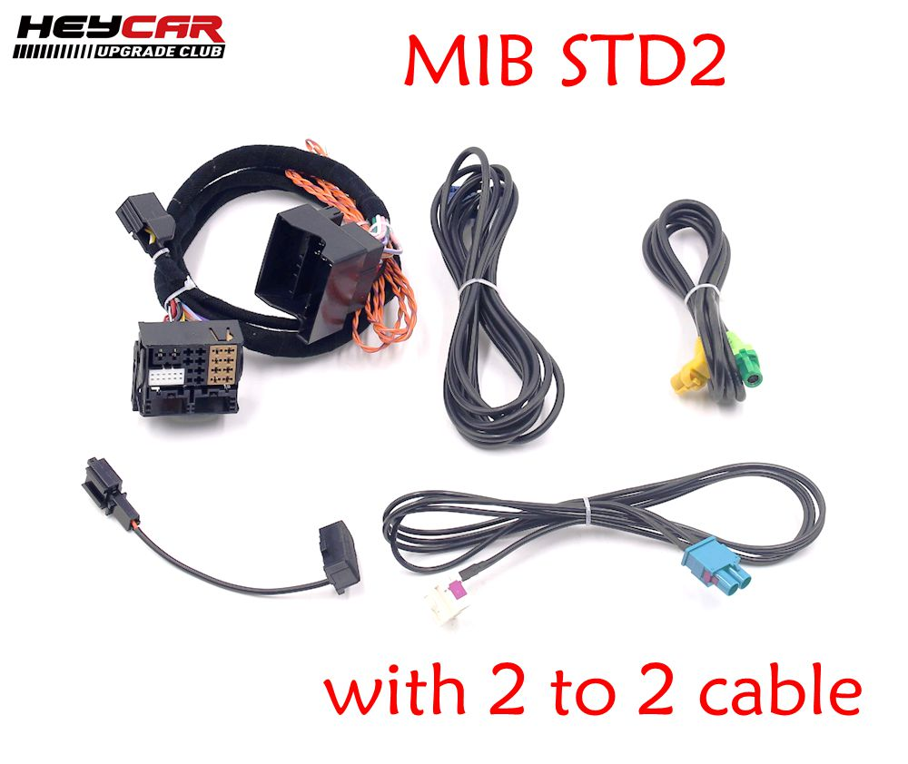 MIB STD2 ZR NAV Discover Pro Radio Adapter Cable Wire harness with 2 to 2 cable