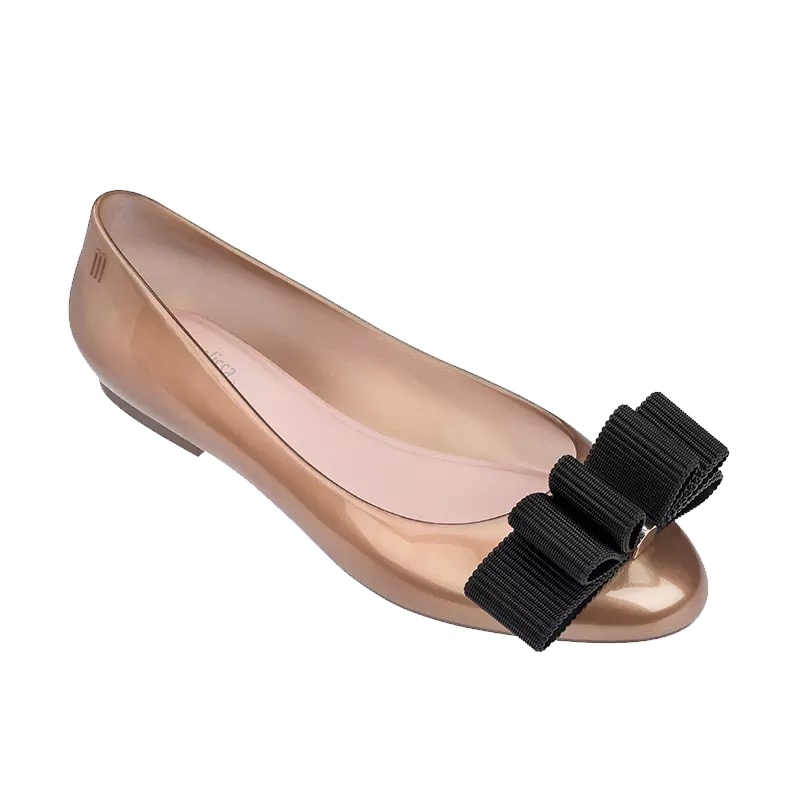 melissa women jelly shoes with bow flat sandals woman ladies sandalias melissa summer female shoes