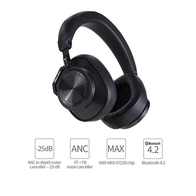 Image 2 - Bluedio T6 активный Шум шумоподавления наушники Беспроводной Bluetooth гарнитура с микрофоном для телефонов и музыкаНаушники и гарнитуры   -