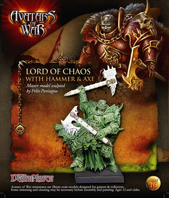 Lord of Chaos Hammer Axe 28mm chaos unleashed