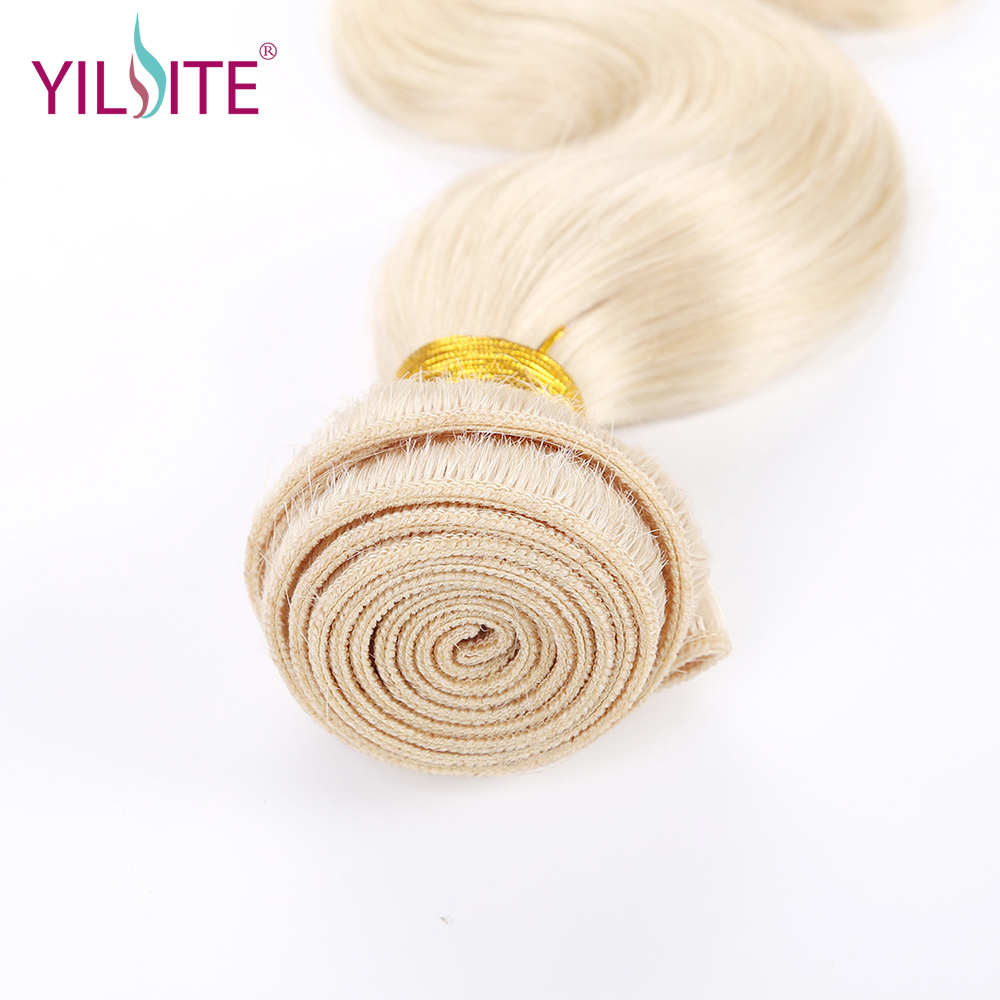 Илитэ в синьцзан индийские тела волна человеческих волос ткань, блондинка Цвет #613 non-реми волос Комплект s 12 дюймов-22 дюймов 1 Комплект