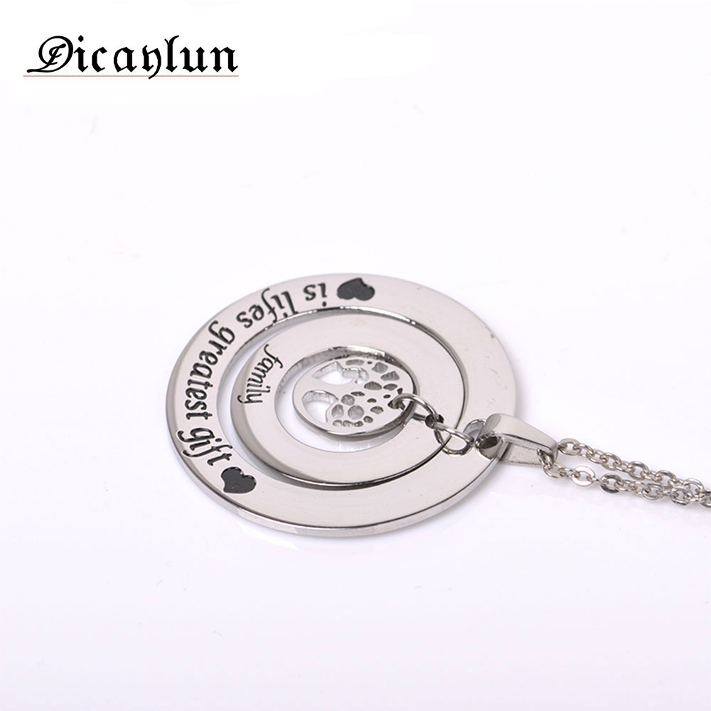 DICAYLUN women's clothing & accessories necklaces & pendants Mother's Day The tree of life gifts for women stainless steel chain