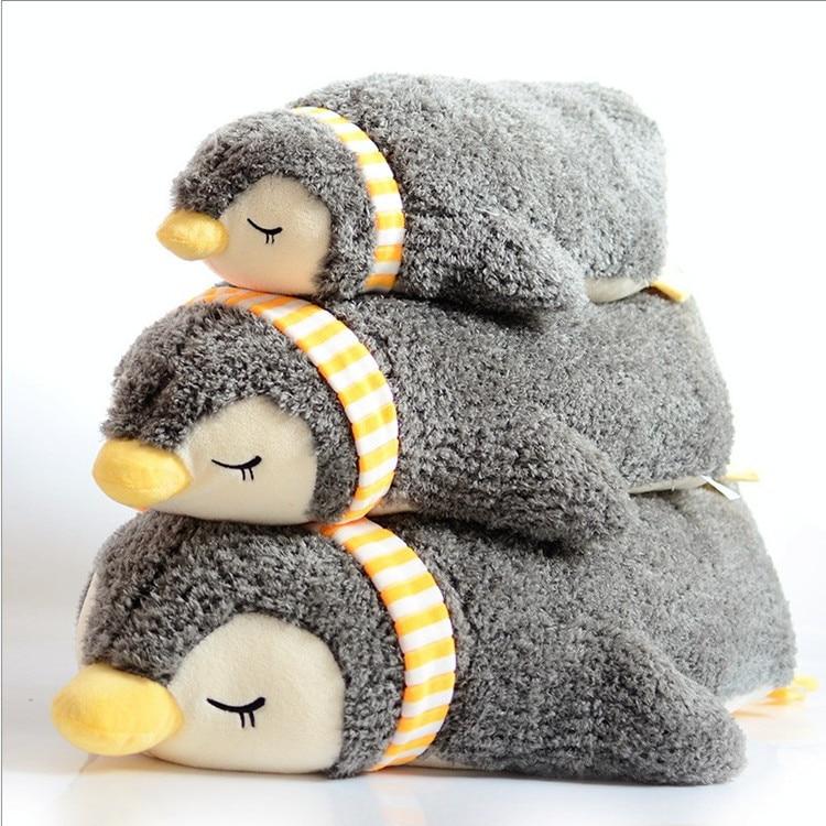 Pingouin dormant peluche jouets enfants doux oreiller dormir dos coussin éducatif Anti-stress peluche poupée cadeau 55cm 70cm